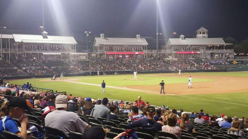 Seating view for Dr Pepper Ballpark Section 123 Row 23 Seat 1