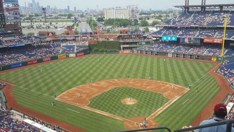 Seating view for Citizens Bank Park Section 422 Row 9 Seat 4