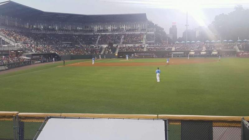 Seating view for FNB Field Section RF Barstools