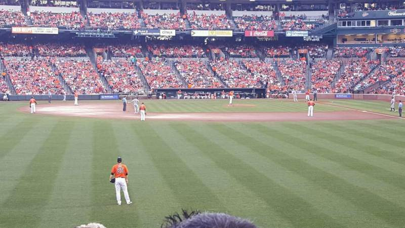 Seating view for Oriole Park at Camden Yards Section 82 Row 18 Seat 1