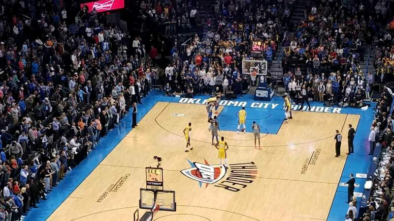 Seating view for Chesapeake Energy Arena Section 330 Row P Seat 6