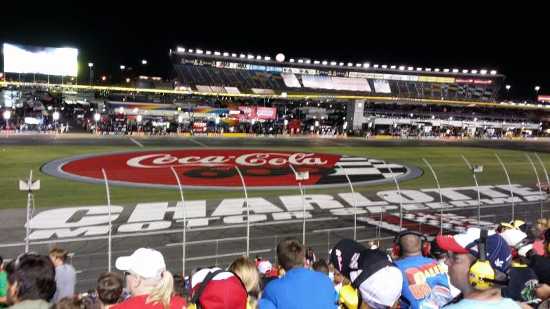 Charlotte motor speedway section general motors g row 23 Charlotte motor speedway hotels nearby