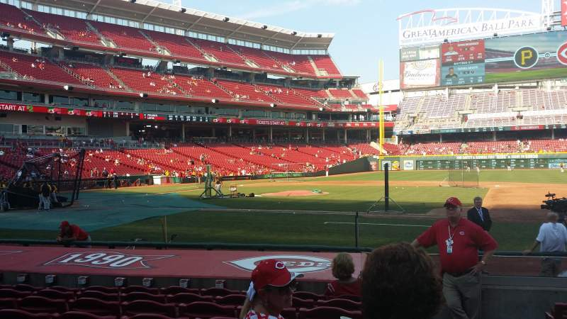 Seating view for Great American Ball Park Section 130 Row M Seat 1