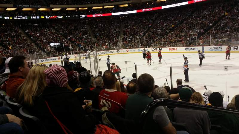 Seating view for Xcel Energy Center Section 115 Row 9 Seat 18