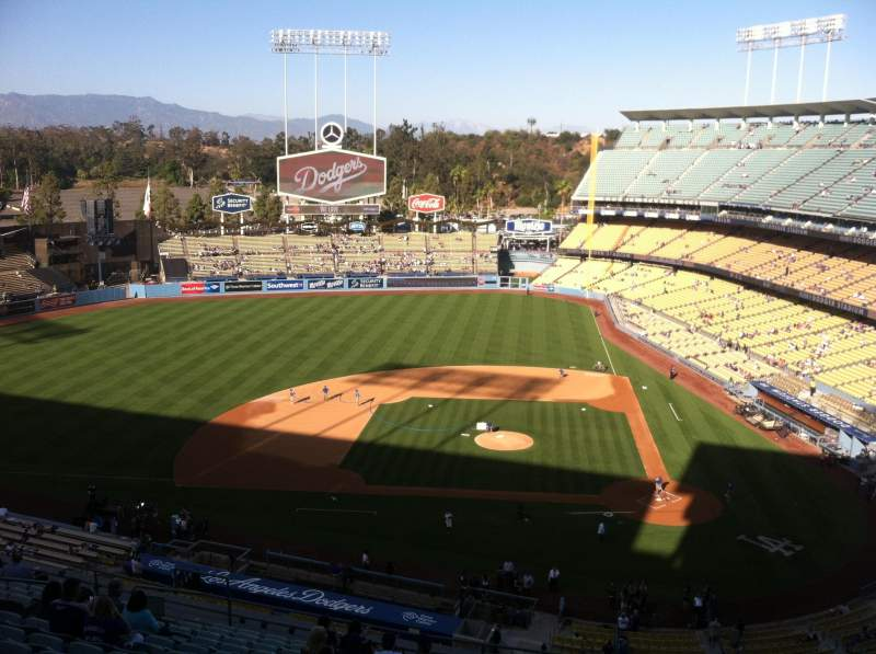 Seating view for Dodger Stadium Section 11RS Row O Seat 6