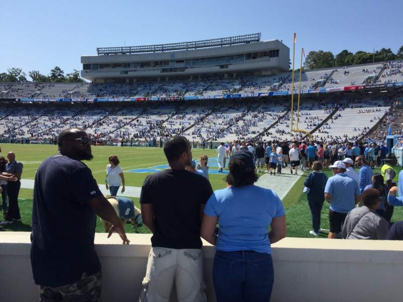 Seating view for Kenan Memorial Stadium Section 111 Row D Seat 7