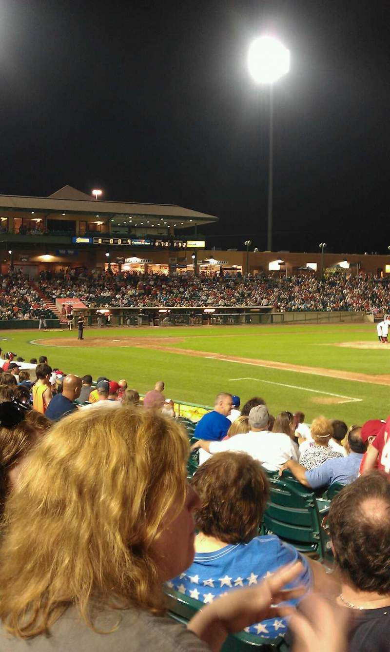 Seating view for FirstEnergy Park Section 102 Row 13 Seat 18