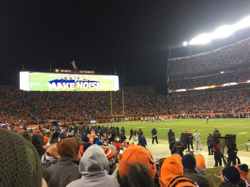 Seating view for Sports Authority Field at Mile High Section 121 Row 5 Seat 6