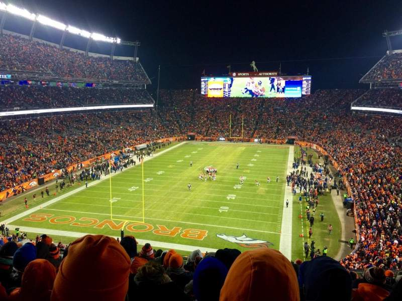 Seating view for Sports Authority Field at Mile High Section 321 Row 16 Seat 12