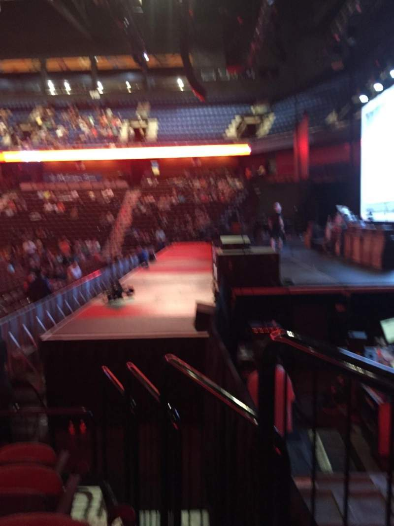Seating view for Mohegan Sun Arena Section 14 Row G Seat 1