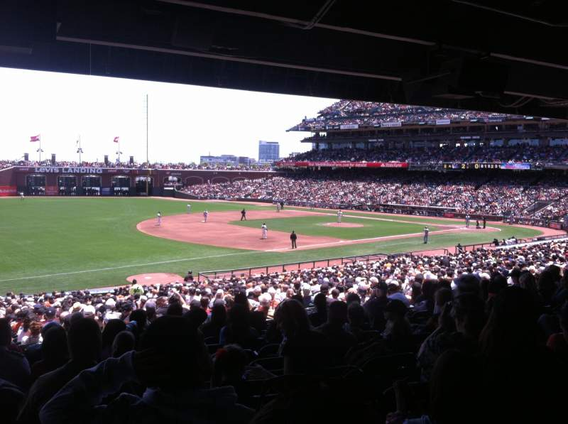 Seating view for AT&T Park Section 128 Row 38 Seat 9