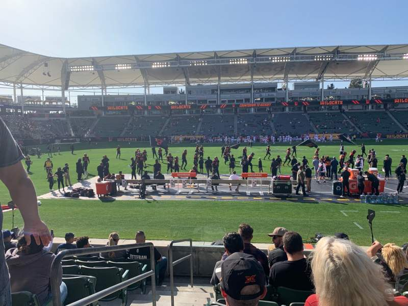 Seating view for Dignity Health Sports Park Section 132 Row H Seat 20