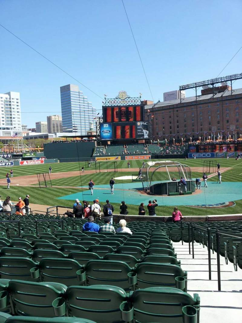 Seating view for Oriole Park at Camden Yards Section 42 Row 22 Seat 1