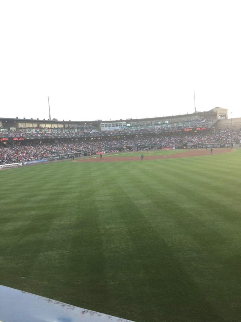Seating view for Coca-Cola Park Section Bacon Strip Row A Seat 75