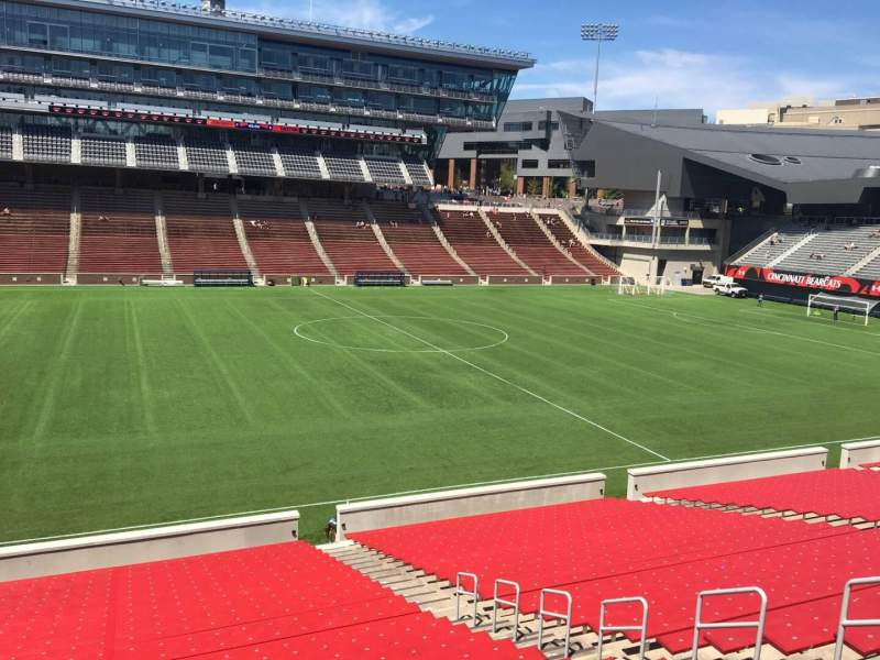 Seating view for Nippert Stadium Section 108 Row 32 Seat 11