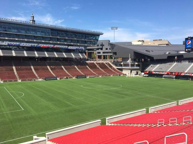 Seating view for Nippert Stadium Section 110 Row 32 Seat 11