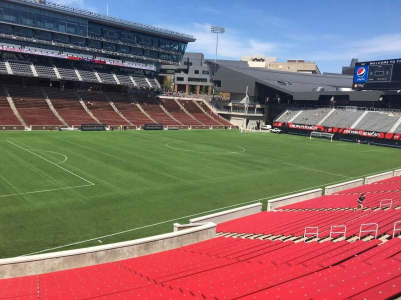 Seating view for Nippert Stadium Section 110 Row 32 Seat 35
