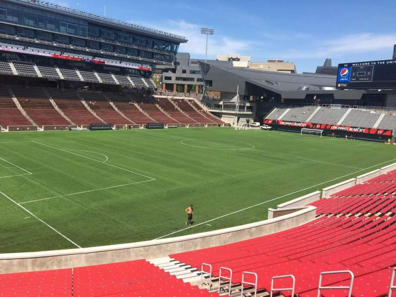 Seating view for Nippert Stadium Section 111 Row 32 Seat 11