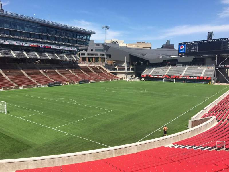 Seating view for Nippert Stadium Section 111 Row 32 Seat 35