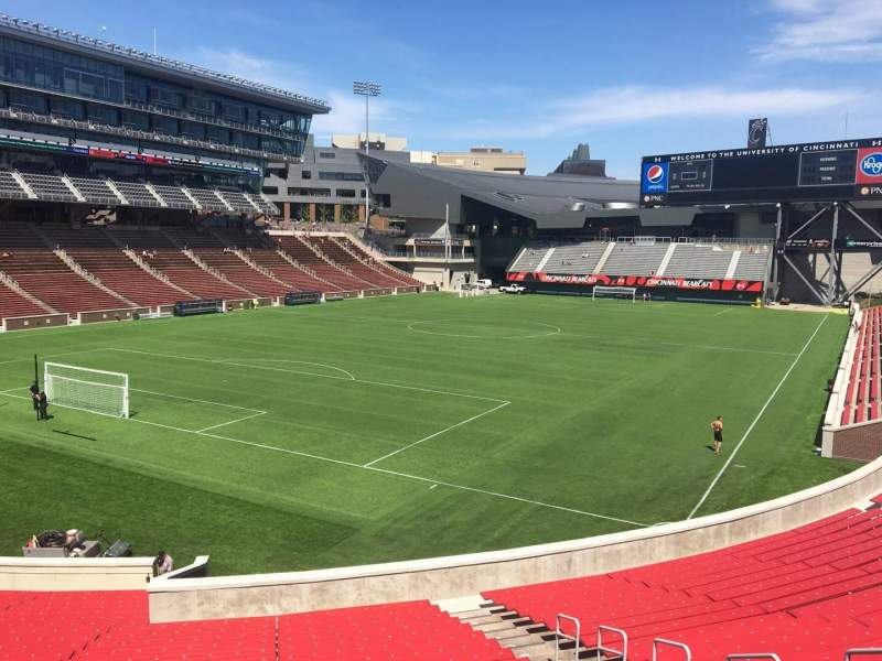 Seating view for Nippert Stadium Section 112 Row 32 Seat 11
