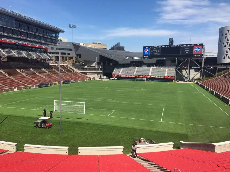 Seating view for Nippert Stadium Section 113 Row 33 Seat 11