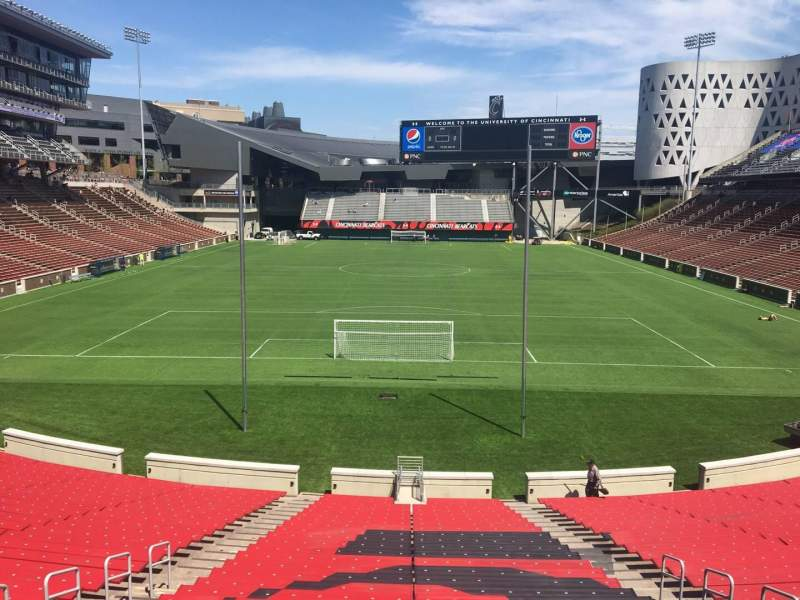 Seating view for Nippert Stadium Section 114 Row 32 Seat 11