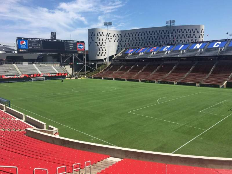 Seating view for Nippert Stadium Section 117 Row 32 Seat 35
