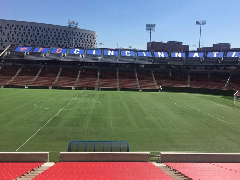 Seating view for Nippert Stadium Section 121 Row 32 Seat 11