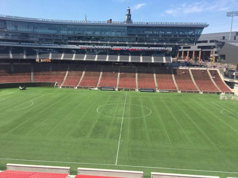 Seating view for Nippert Stadium Section 206 Row 8 Seat 1