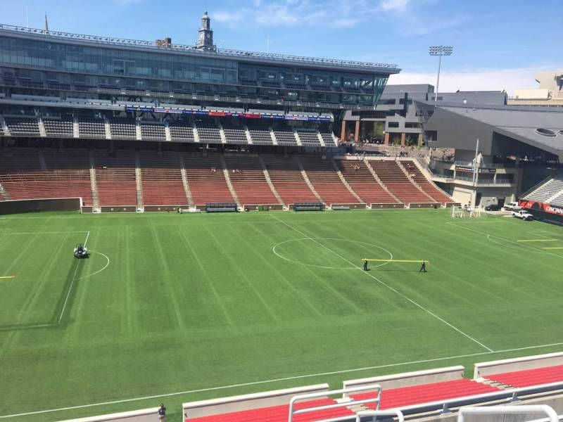 Seating view for Nippert Stadium Section 209 Row 8 Seat 1