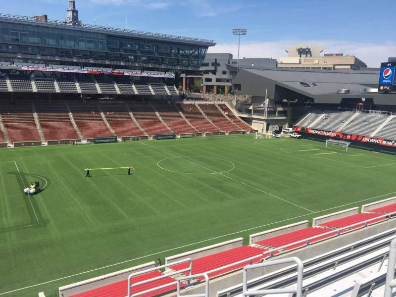 Seating view for Nippert Stadium Section 210 Row 8 Seat 1