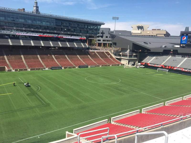 Seating view for Nippert Stadium Section 211 Row 8 Seat 1