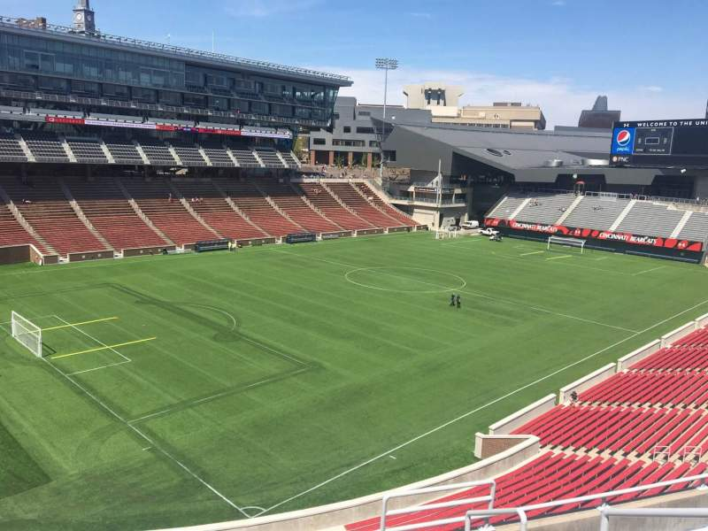 Seating view for Nippert Stadium Section 213 Row 8 Seat 1