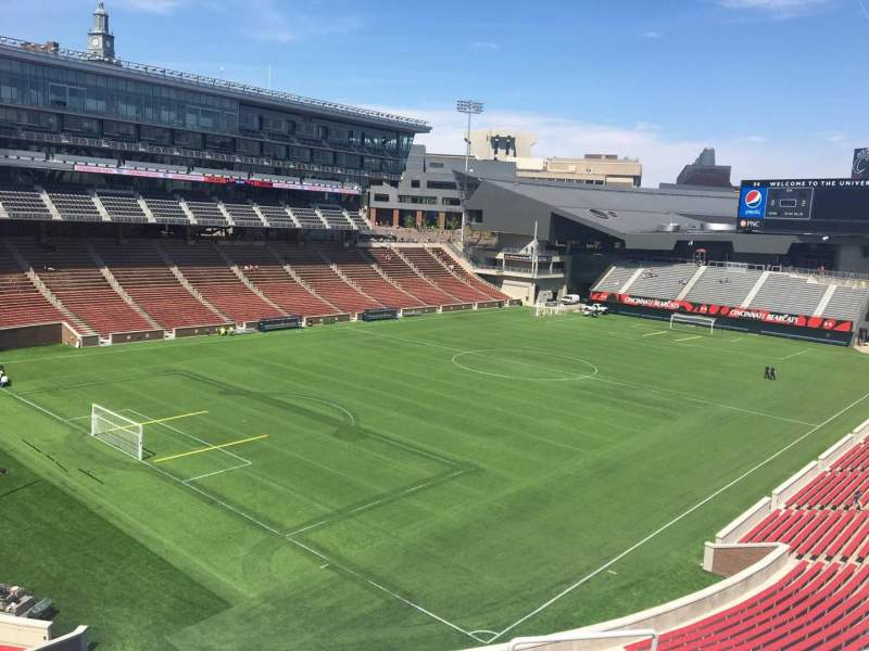 Seating view for Nippert Stadium Section 214 Row 8 Seat 1