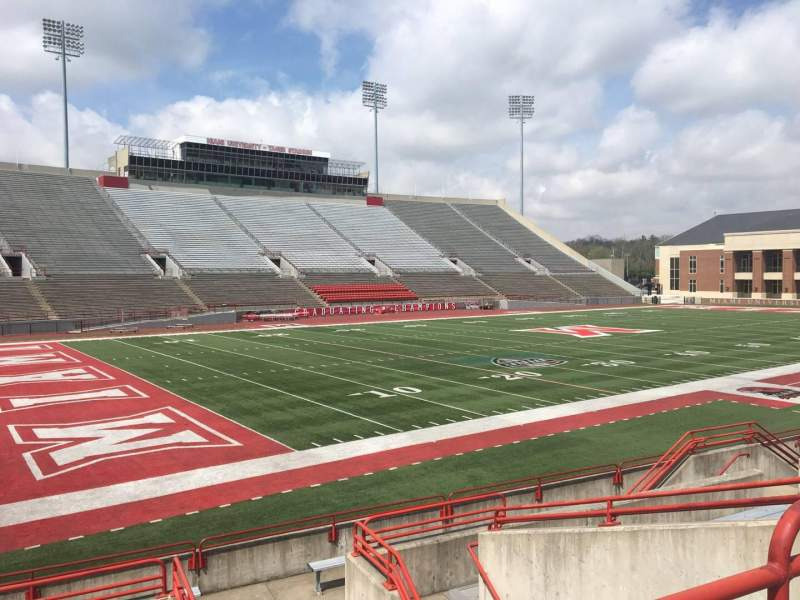 Seating view for Yager Stadium Section O Row 10 Seat 4