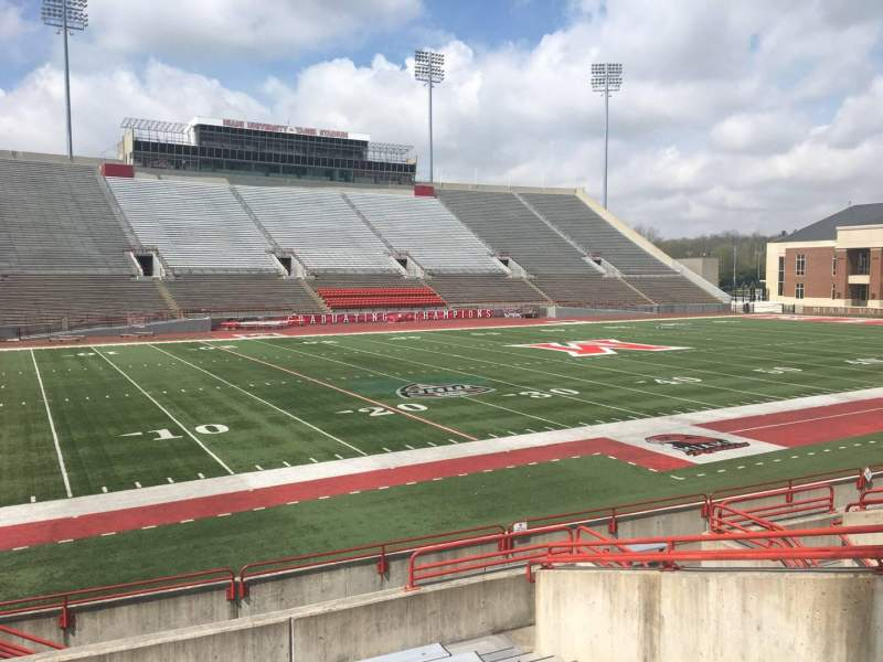 Yager Stadium, section: M, row: 10, seat: 12