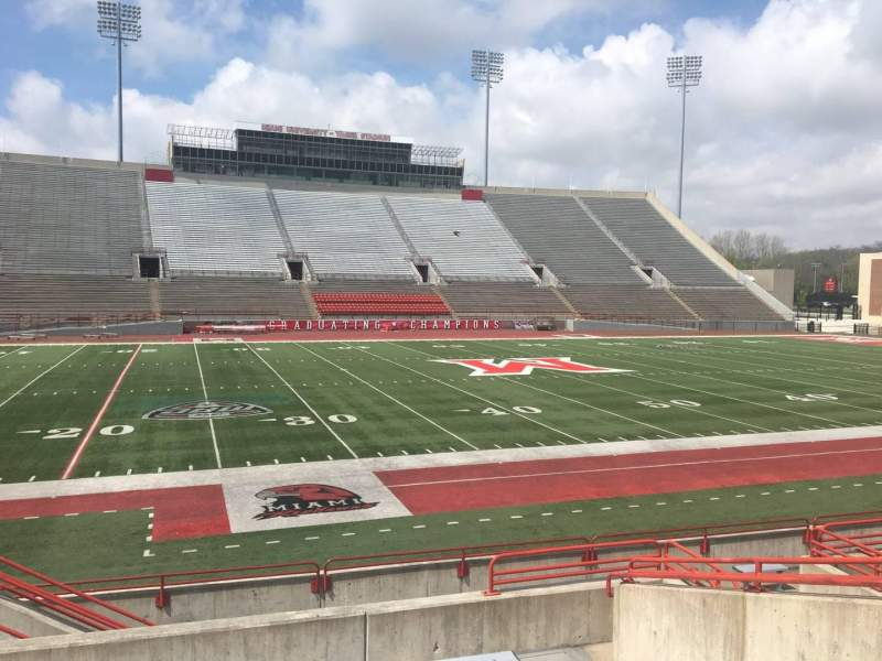 Seating view for Yager Stadium Section K Row 10 Seat 12