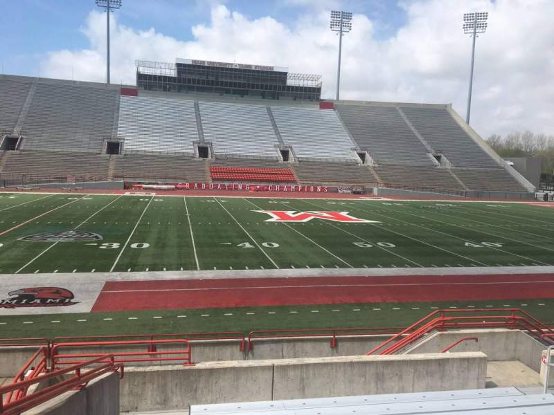 Seating view for Yager Stadium Section J Row 10 Seat 12