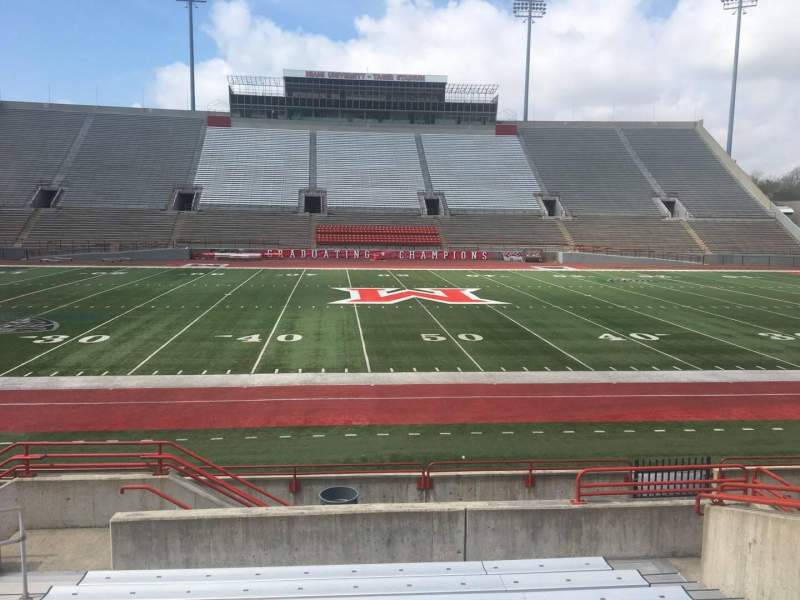 Seating view for Yager Stadium Section H Row 10 Seat 12