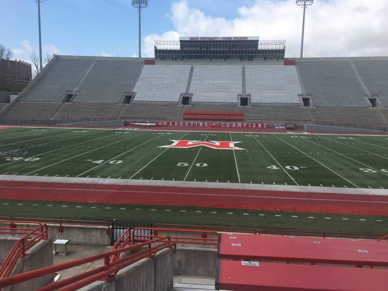 Seating view for Yager Stadium Section G Row 10 Seat 12