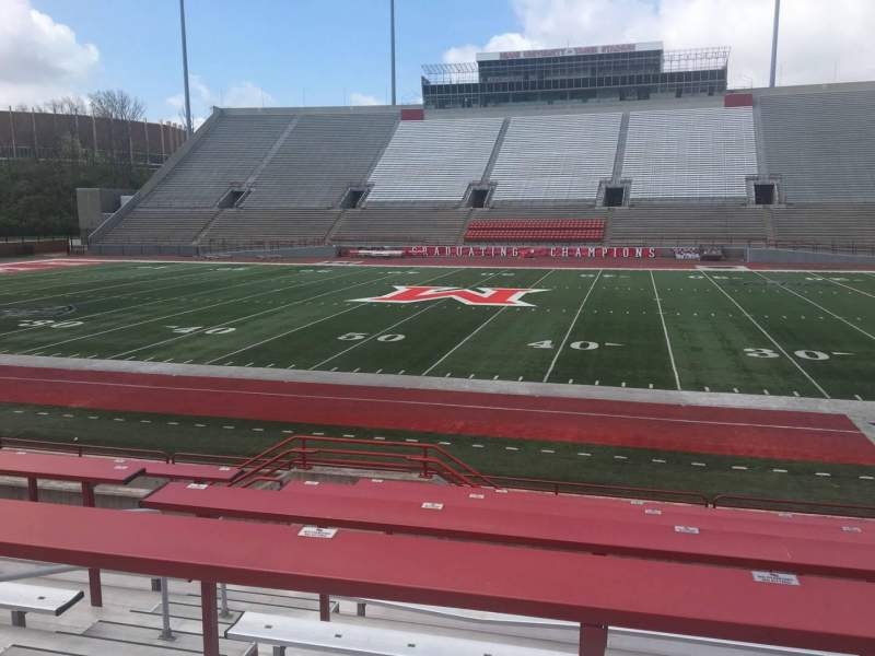 Seating view for Yager Stadium Section F Row 10 Seat 12