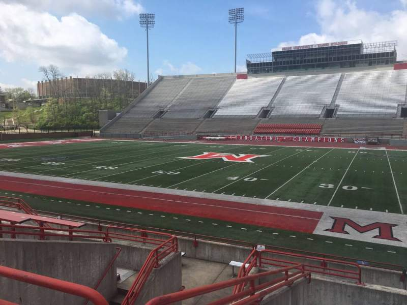 Seating view for Yager Stadium Section E Row 10 Seat 12