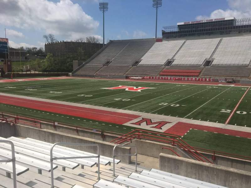 Seating view for Yager Stadium Section D Row 10 Seat 12