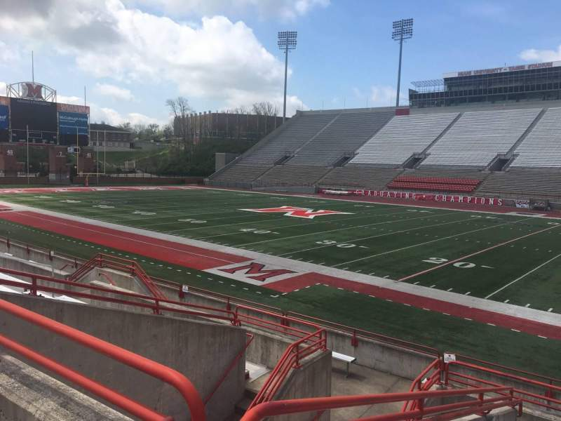 Seating view for Yager Stadium Section C Row 10 Seat 12