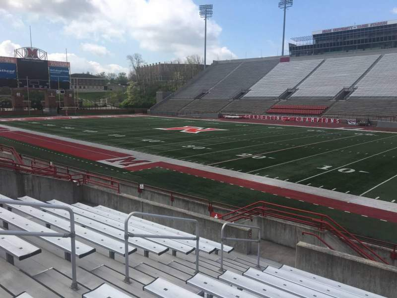 Seating view for Yager Stadium Section B Row 10 Seat 12