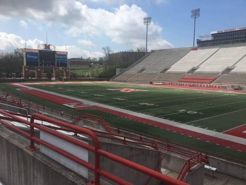 Seating view for Yager Stadium Section A Row 10 Seat 12