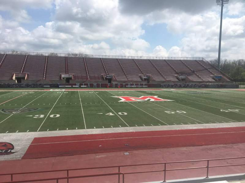 Seating view for Yager Stadium Section 5 Row 11 Seat 12