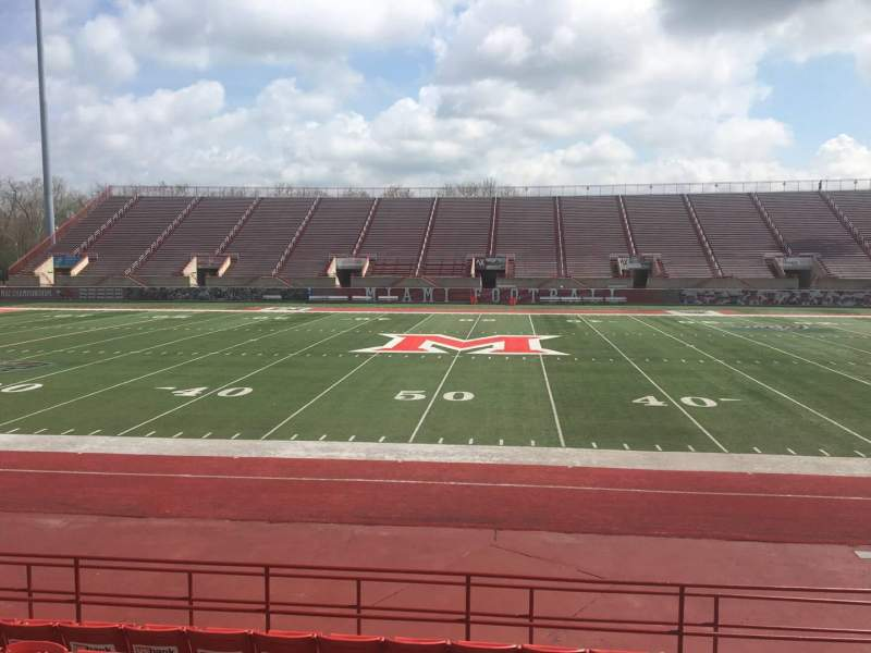 Seating view for Yager Stadium Section 4 Row 11 Seat 12