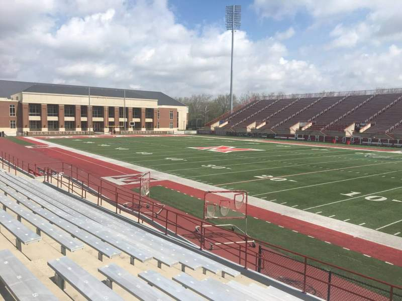Seating view for Yager Stadium Section 1 Row 12 Seat 18