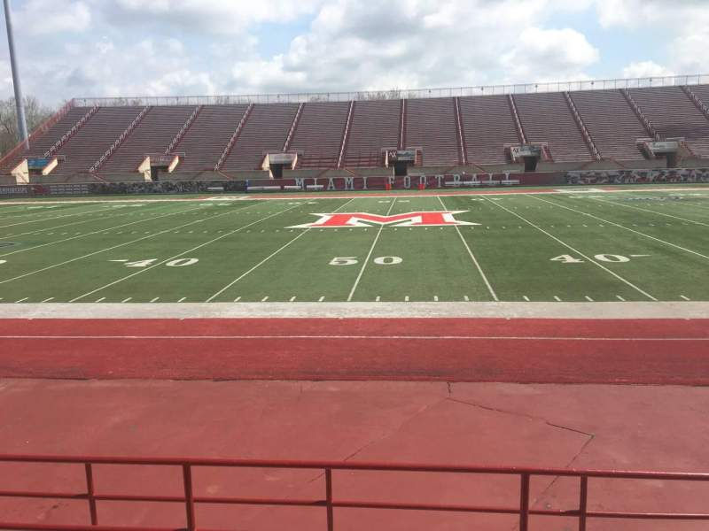 Seating view for Yager Stadium Section 4 Row 6 Seat 12